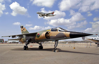 One of the two Libyan Air Force Mirage F.1s - Malta International Airshow 2011 - Photo © Alan Cordinas